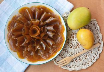 Thai dessert, Dried sweet mango made of mango, sugar and salt