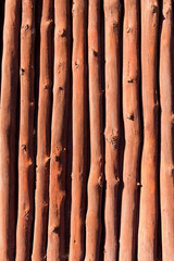 Mediterranean wooden trunks wall texture