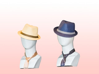 Mannequins in a hat