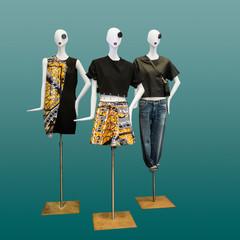 Women elegant dress on mannequin