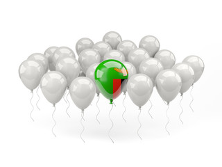 Air balloons with flag of zambia