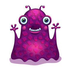 Bright funny monster alien. Graphic character.