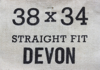 Size label for jeans pants 2