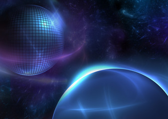 Сosmic Ball - Abstract Futuristic Background