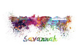 Savannah skyline in watercolor