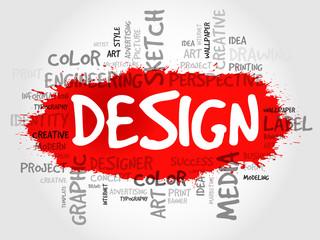 DESIGN word cloud concept
