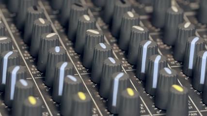 hand on mixer knob