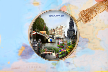 Looking in on Amsterdam, Holland