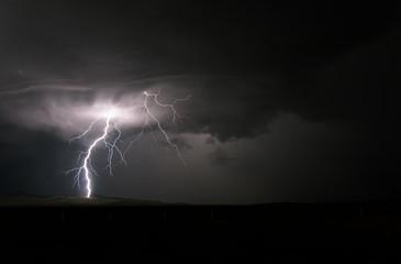 Lightning Bolt from cumulus clouds