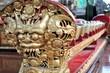 Small carved gamelan music gongs, Ubud, Bali, Indonesia - 80532160