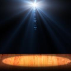 Light on wooden