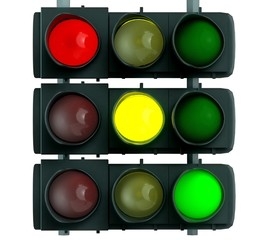 Stoplight. 3D. Traffic light