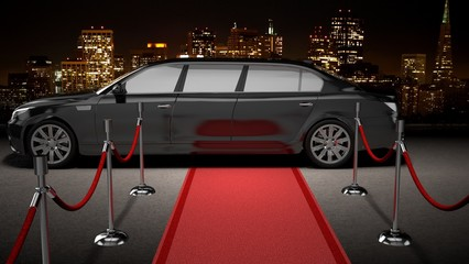 Limousine. 3D. Nightlife VIP