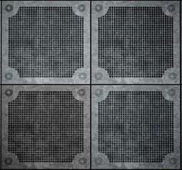 Metal. 3D. Texture of metal