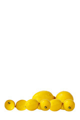 Group of Lemons with Water Drops
