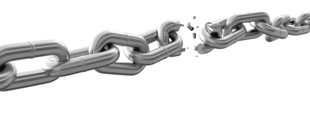 Chain. 3D. Breaking Chain