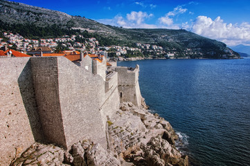 View of Old City Dubrovnik, Croatia