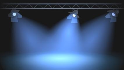 Spotlight. 3D. Spotlight