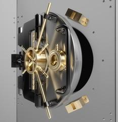 Vaulted Door. 3D. Bank Vault