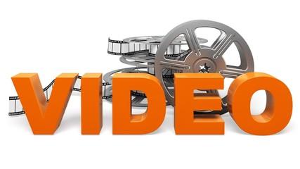 Video. 3D. Video. Concept icon