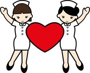 二人の看護婦とハート