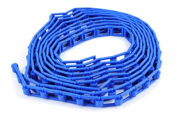 blue plastic flat chain