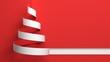 Christmas. 3D. White Christmas