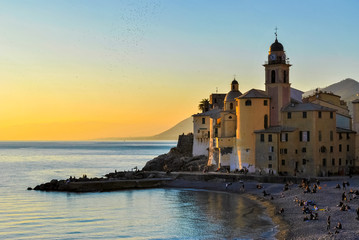 Winter sunset in Camogli
