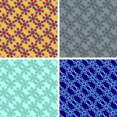 seamless hexagon pattern set