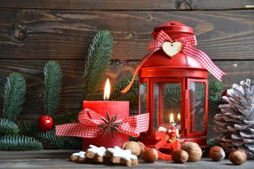 Weihnachtskarte - Weihnachtsstimmung - Laterne