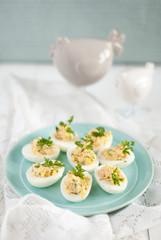 eggs with prawns