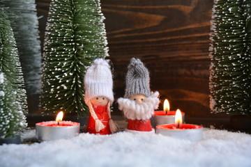 Weihnachtskarte - Weihnachtswichtel
