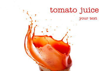 Splashes of tomato juice