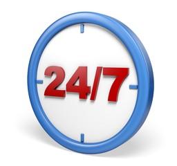 Clock. 3D. 24/7 Opening Concept