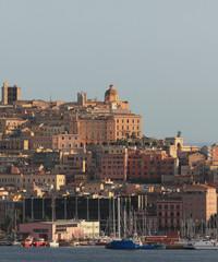 Mediterranean city. Cagliari, Sardinia