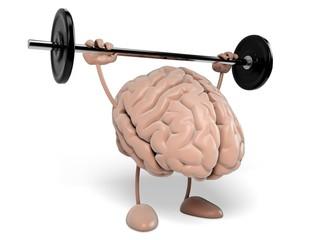 Brain. 3D. Strong brain