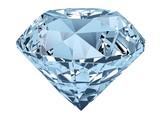 Diament. 3D. Pojedynczy diament na białym tle.