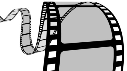 Camera Film. 3D. Curvy filmstrip