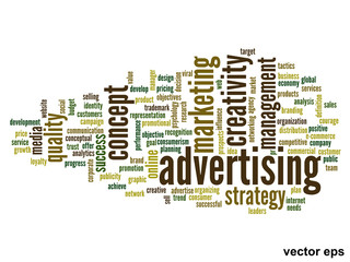Vector conceptual advertising business word cloud