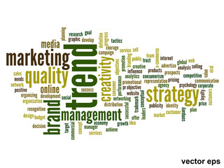 Vector conceptual business word cloud