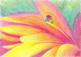 Dewdrop - pencil drawing.