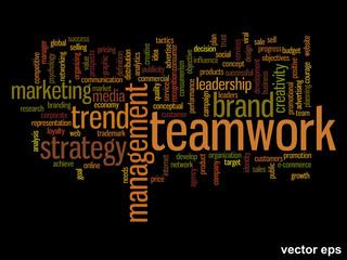 Vector onceptual business word cloud