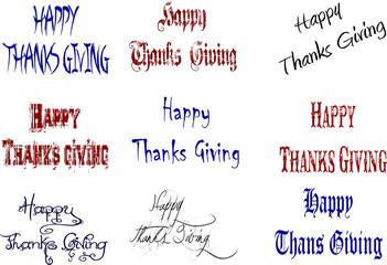Happy Thanks Giving collage