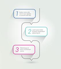 Outline speech bubble template. Infographics elements.