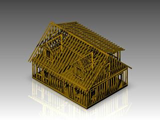 Caple Style house frame model