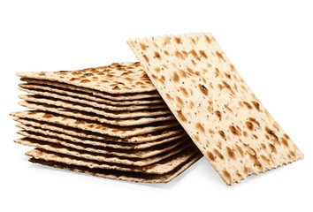 Matzah. Matzoh, the jewish easter bread isolated on white