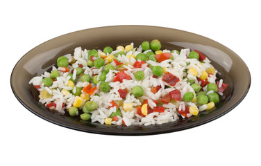 Vegetable mix in dish