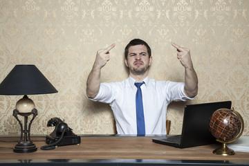 ugly behavior  of  businessman