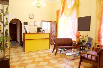 Reception area at the beauty salon