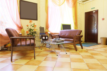 Waiting room of the beauty salon